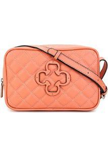 Bolsa Couro Capodarte Mini Bag Feminina - Feminino-Coral