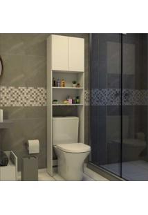 Armário Banheiro Para Vaso Sanitário Com 2 Portas Aspen Multimóveis Branco
