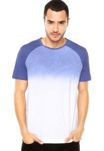 Camiseta Calvin Klein Jeans Tinturado Azul/Branca