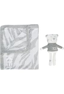Kenzo Kids Kit Cobertor E Brinquedo - Cinza