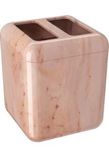Porta Escova Cube Rosé