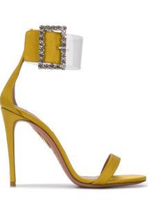 Aquazzura Sandália Com Salto Agulha - Amarelo