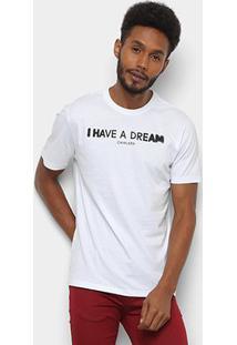 Camiseta T-Shirt Cavalera Estampada Masculina - Masculino-Branco