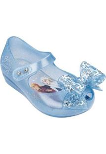 Sapatilha Mini Melissa Ultragirl + Frozen - Feminino-Azul Claro