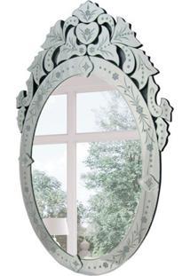 Espelho Decorativo Mirano 90X60 Cm Prata