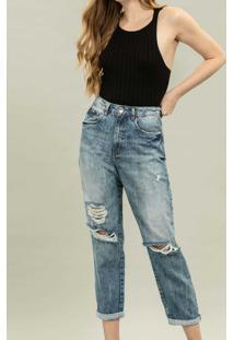 Calça Jeans Mommy Destroyed Jeans - Lez A Lez
