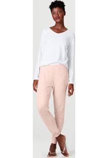 Pijama Longo Feminino Decote V