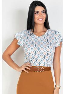 Blusa Geométrica Moda Evangélica