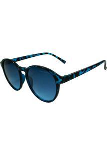 Óculos De Sol Mackage Feminino Redondo - Azul Tarta
