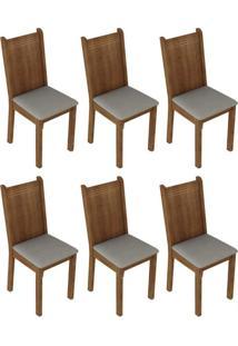 Kit 6 Cadeiras Rustic Pérola Madesa4290