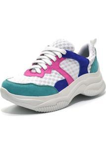 Tênis Sneaker Chuncky Ellas Online Rosa/Verde