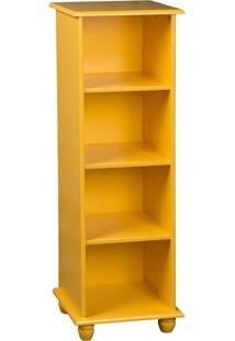Estante Com 3 Prateleiras 119 Cm Amarela
