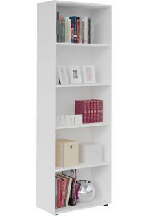 Estante Multy Para Livros E Objetos Branco Com 4 Prateleiras E 1 Nicho - Artely