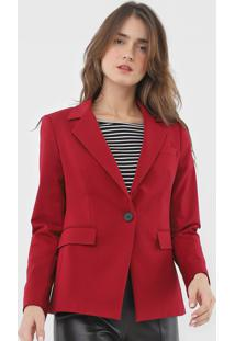 Blazer Calvin Klein Alfaiataria Vermelho