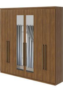 Guarda-Roupa Alonzo New Com Espelho - 100% Mdf - 6 Portas - Rovere Naturale
