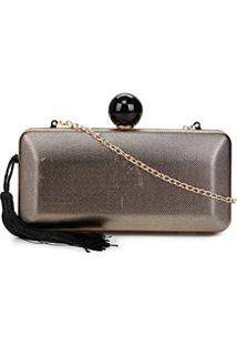 Bolsa Shoestock Clutch Evening Tassel Feminina