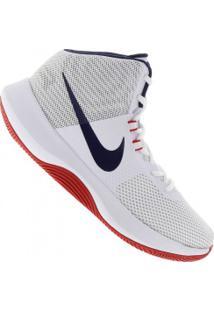 Tênis Nike Air Precision - Masculino - Branco/Azul Esc