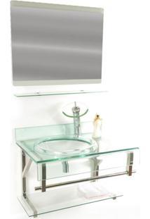 Gabinete De Vidro 70Cm Para Banheiro Turquia Incolor Ekasa