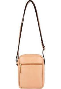 Bolsa Feminina Shoulder Bag De Couro Pietra - Feminino-Nude