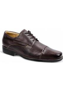 Sapato Social Derby Sandro Moscoloni Gary Masculino - Masculino-Marrom Escuro