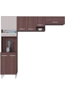 Cozinha Compacta 8 Portas Isadora Capuccino/Off White - Lc Móveis