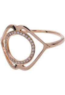Tinyom Anel De Ouro Rosê 18Kt Com Diamante - Rose Gold