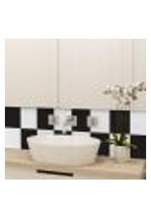 Adesivo Azulejo Preto E Branco Xadrez Cozinha 15X15 36Un