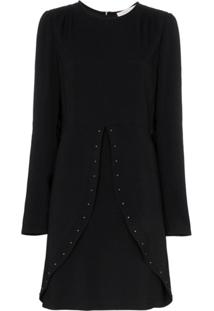 See By Chloé Studded Slit-Detail Dress - Preto