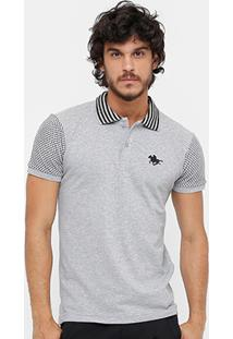 Camisa Polo Rg 518 Piquet Gola Listrada Masculina - Masculino