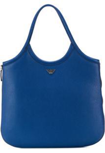 Emporio Armani Bolsa Tote Com Logo - Azul