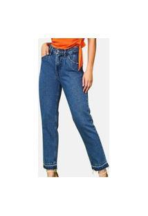 Calça Jeans Gliss Mom Azul