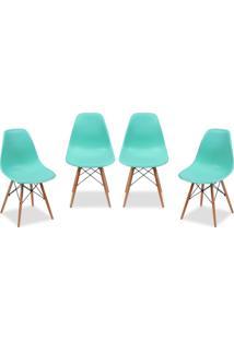 Kit 04 Cadeiras Decorativas Lyam Decor Eiffel Charles Azul. - Azul - Dafiti