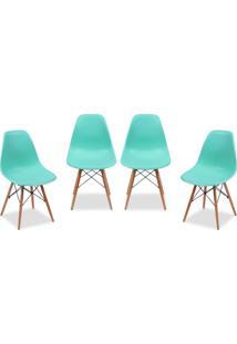 Kit 04 Cadeiras Decorativas Lyam Decor Eiffel Charles Azul
