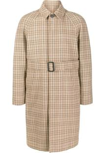 Sandro Paris Trench Coat Com Estampa - Neutro