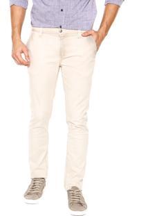 Calça Sarja Calvin Klein Jeans Chino Bege