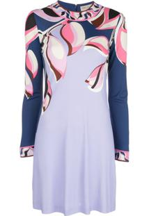 Emilio Pucci Peony Print Dress - Roxo
