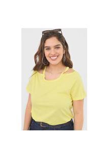 Blusa Forum Recortes Amarela