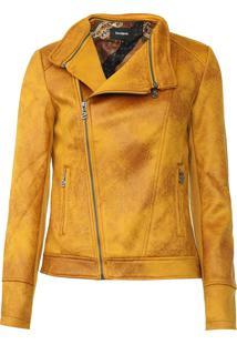 Jaqueta Desigual Millet Suede Amarela