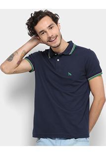 Camisa Polo Acostamento Masculina - Masculino-Marinho