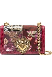 Dolce & Gabbana Bolsa Tiracolo Devotion Jacquard - Vermelho