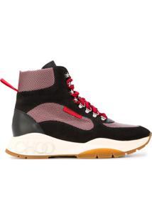 Jimmy Choo Inca High-Top Sneakers - Preto