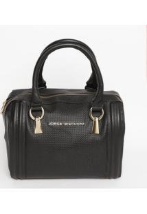 Bolsa Retangular Em Couro - Preta - 26X29X12Cmjorge Bischoff