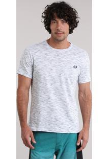 Camiseta Blueman Flamê Cinza Mescla Claro