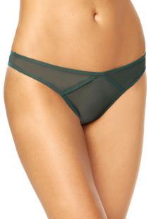 Calcinha Calvin Klein Underwear Tanga Boho Verde