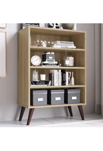 Estante Para Livros 3 Prateleiras Est110 Oak - Completa Móveis