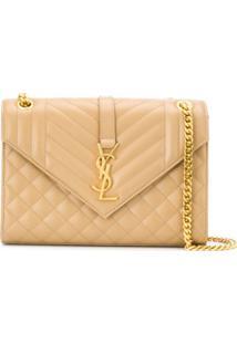 Saint Laurent Envelope Medium Shoulder Bag - Neutro