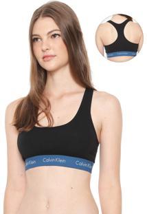 Top Calvin Klein Underwear Logo Preto/Azul