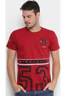 "Camiseta Gangster Estampada ""53 Authentic"" Masculina - Masculino"