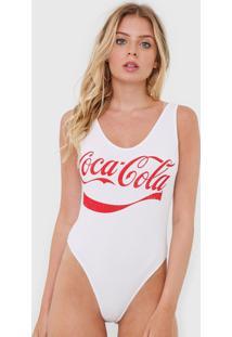 Body Coca-Cola Jeans Canelado Logo Branco