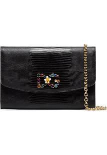 Dolce & Gabbana Bolsa Tiracolo Com Aplicações - Preto